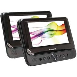 "Sylvania SDVD8737 7"" Dual Screen Portable DVD Player"