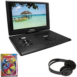"Sylvania 13.3"" Swivel Screen Portable DVD Player w/USB/SD Ca"