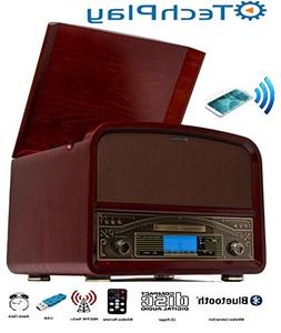 TechPlay TCP9560BT CH, Bluetooth 20W Retro Wooden 3 Speed Tu