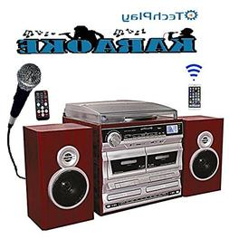 TechPlay ODCRK2110 BT,Karaoke,turntable,W/Dual CD Player/Rec