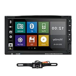 Hizpo 7 Inch HD Touch Screen Double 2 DIN Car Stereo DVD Pla