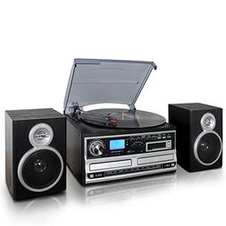 Trexonic 3-Speed Turntable With CD Player, Cassette Player a