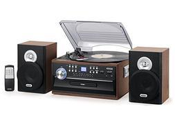 Jensen 3-Speed Turntable Music System Limited Edition JTA475