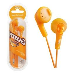 UKDapper JVC HAF160 Orange Gumy Bass Boost Stereo Headphones