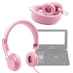DURAGADGET Ultra-Stylish Pink Kids Fashion Headphones With P