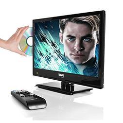 """Upgraded Premium 15.6"""" 1080p LED TV, Multimedia Disc Player,"""