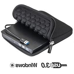 ROOFULL USB 3.0 External DVD Drive with Protective Storage C