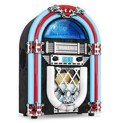 Victrola Retro Desktop Jukebox with CD Player, FM Radio, Blu