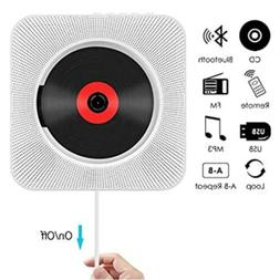 Wall Mountable Bluetooth CD Player Speaker w/Remote HiFi USB