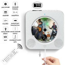 Wall Mounted CD Player FM Radio bluetooth MP3 Music Player w