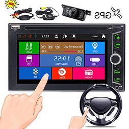 Wireless Rear Camera + EinCar Double Din Car DVD Player in D